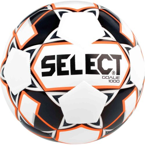 Select 1000g Weighted Goalie Trainer Soccer Ball – White/Black/Orange