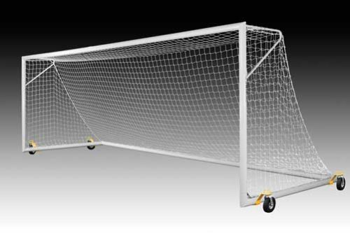 KwikGoal Deluxe European Club Goal with Swivel Wheels – Set (8'x24'x3'x8.5′)