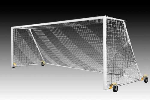 KwikGoal Evolution 2.1 Goal with Swivel Wheels – Set of Two (8'x24'x3'x9′)