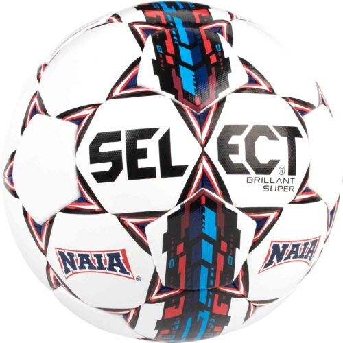 Select NAIA Brillant Super Official Match Soccer Ball – White/Blue/Red