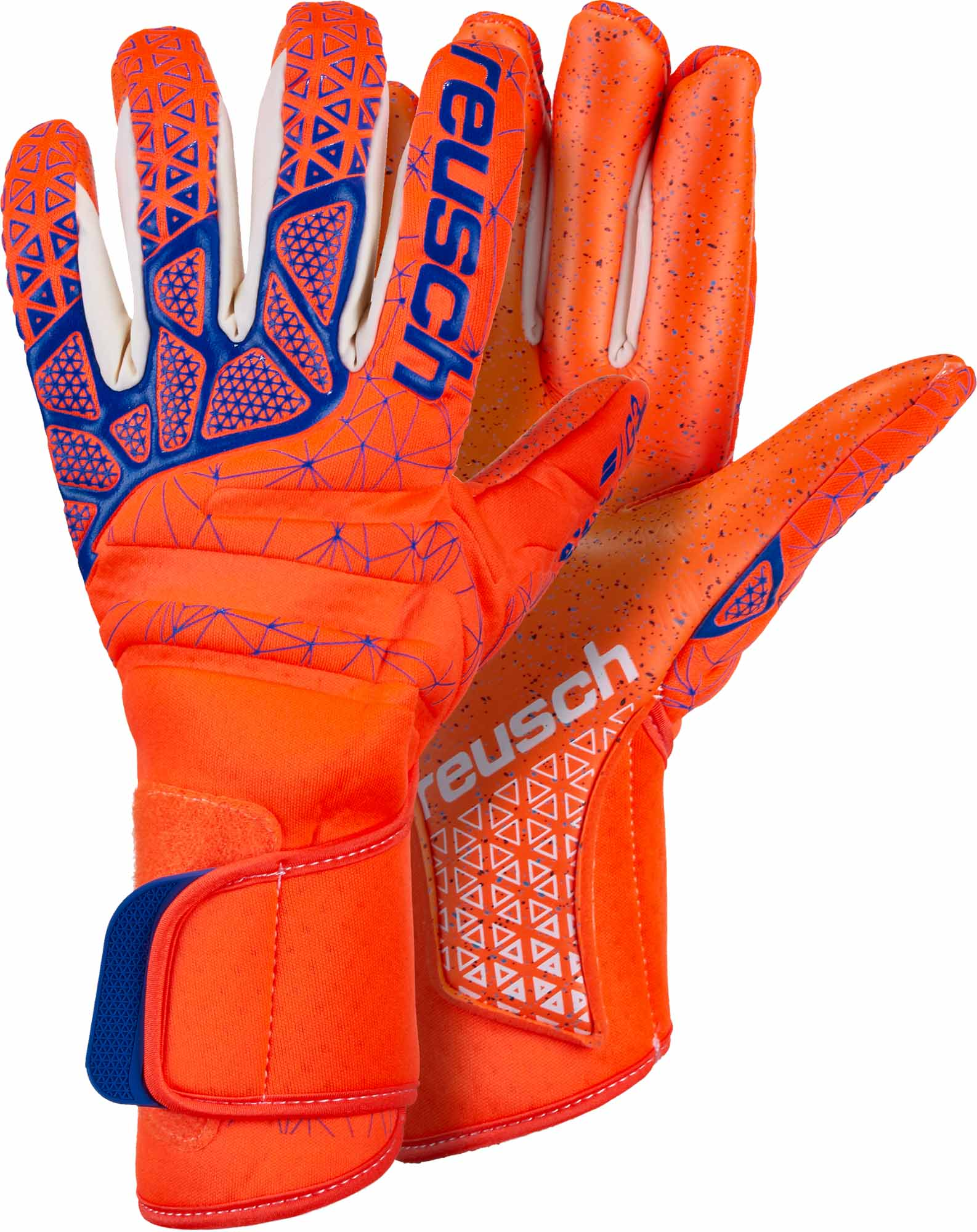 Reusch Pure Contact G3 Fusion Goalkeeper Gloves – Shocking Orange Blue b3fe8297d4d0