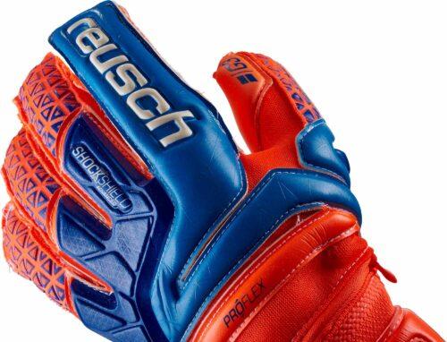 Reusch Prisma Deluxe G3 Ortho-Tec Goalkeeper Gloves – Shocking Orange/Blue