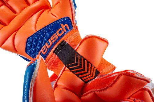 Reusch Prisma Deluxe G3 Ortho-Tec Goalkeeper Gloves – Shocking Orange/Blue