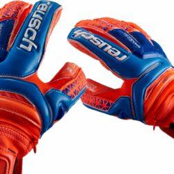 163377cd479 Reusch Prisma Supreme G3 Fusion Ortho-Tec Goalkeeper Gloves - Shocking  Orange/Blue - SoccerPro