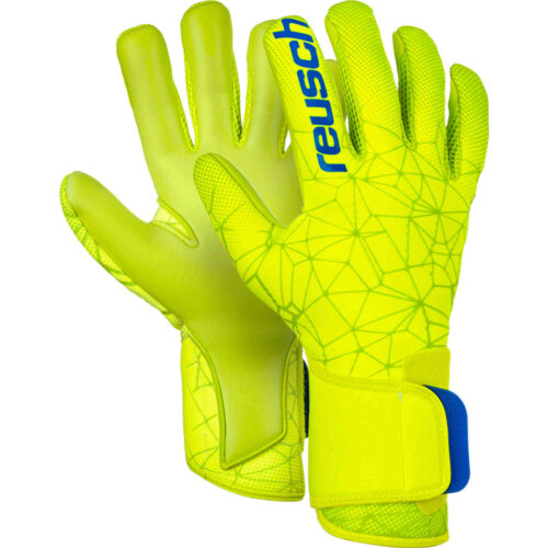 Reusch Pure Contact II S1 Goalkeeper Gloves – Safety Yellow