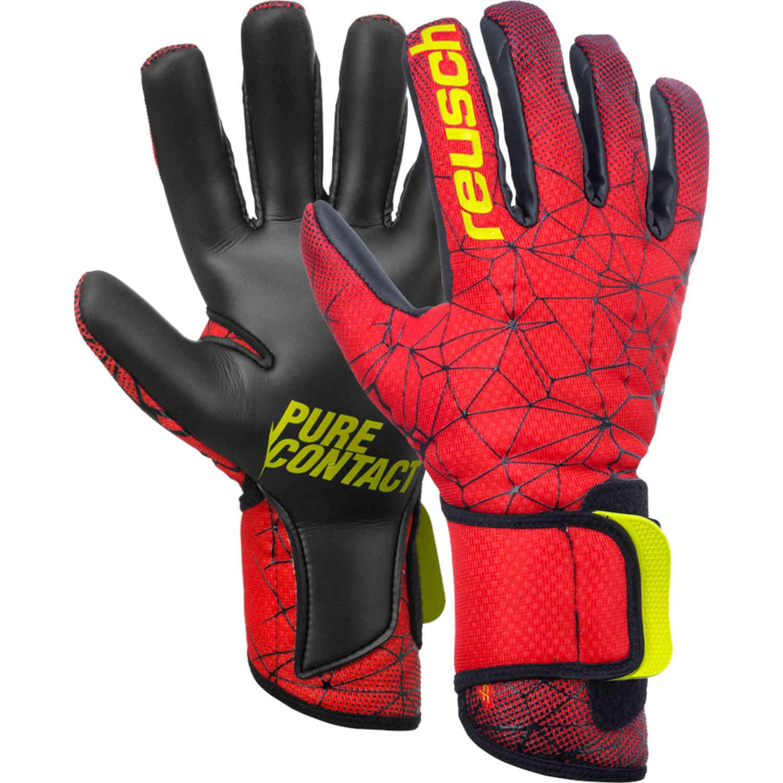 e1682a0f1 Reusch Pure Contact II R3 Goalkeeper Gloves - Red - SoccerPro