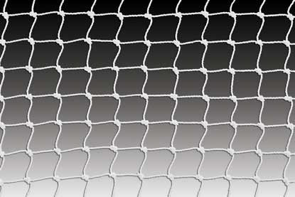 KwikGoal 8′ x 24′ x 3′ x 8.5′ 2″ Mesh & 3mm Solid Braid Net – White