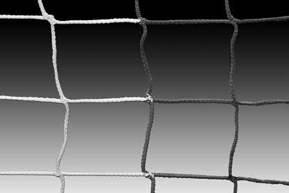 KwikGoal 8′ x 24′ x 3′ x 8.5′ 120mm Mesh & 3mm Solid Braid Net – Black/White