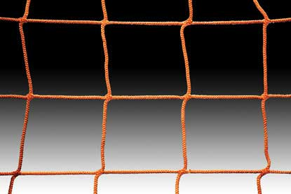 KwikGoal 8′ x 24′ x 4′ x 10′ 120mm Mesh & 2.4mm Solid Braid Net – Orange