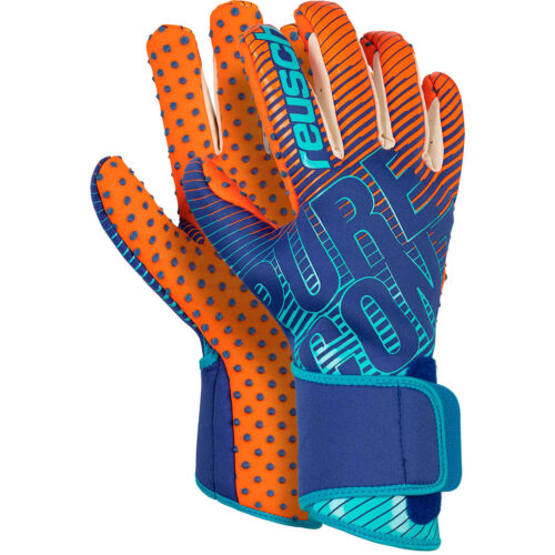 reusch Pure Contact III G3 Speedbump Goalkeeper Gloves – Deep Blue & Shocking Orange