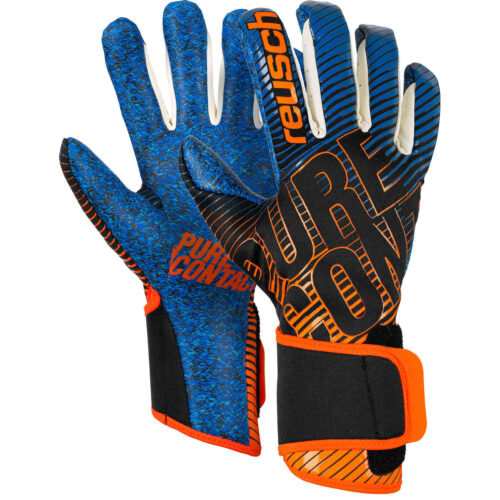 reusch Pure Contact III G3 Fusion Goalkeeper Gloves – Black & Shocking Orange with Deep Blue