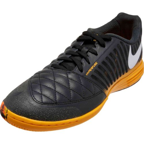 Nike Lunargato II – Dark Smoke Grey & White with Laser Orange