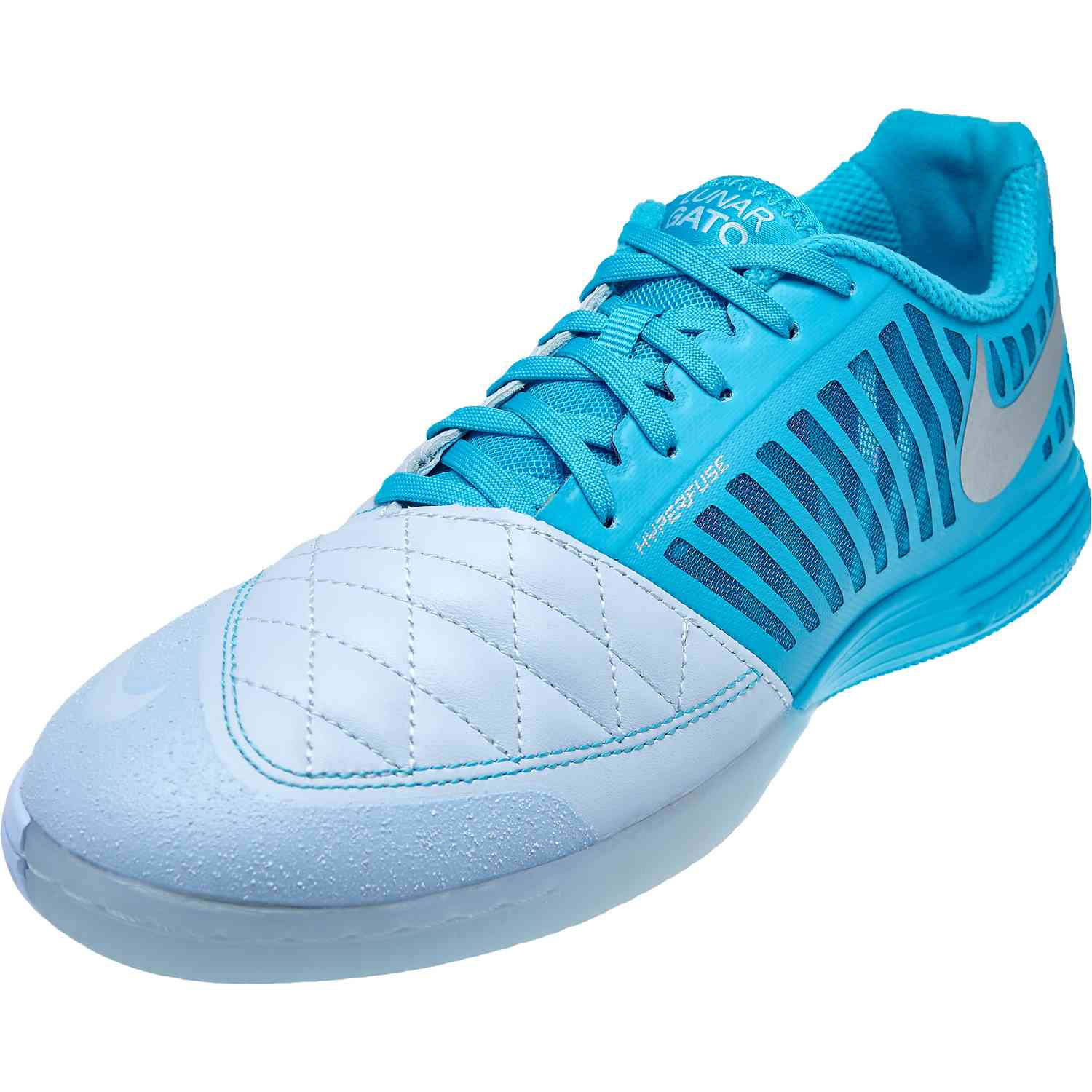buy popular 27865 bc4d0 Nike Lunargato II – Half Blue Metallic Silver Blue Fury