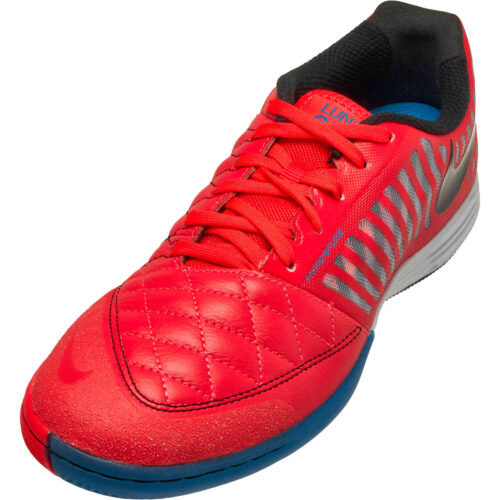 Nike Lunargato II IC – Bright Crimson & Black with White with Photo Blue