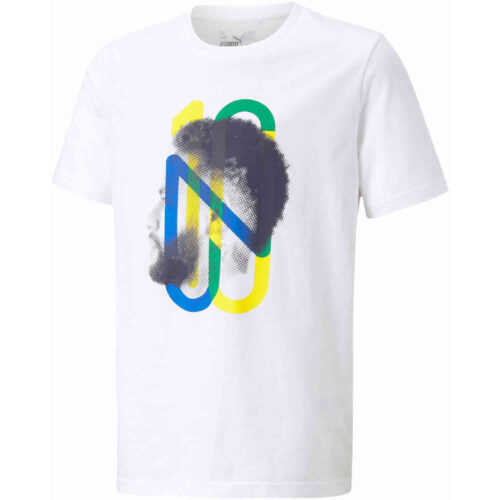 Kids PUMA Neymar Jr Hero Tee – White