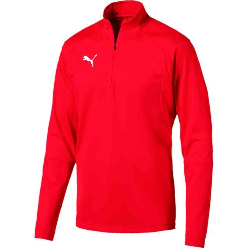 Puma Liga 1/4 zip Drill Top – Red