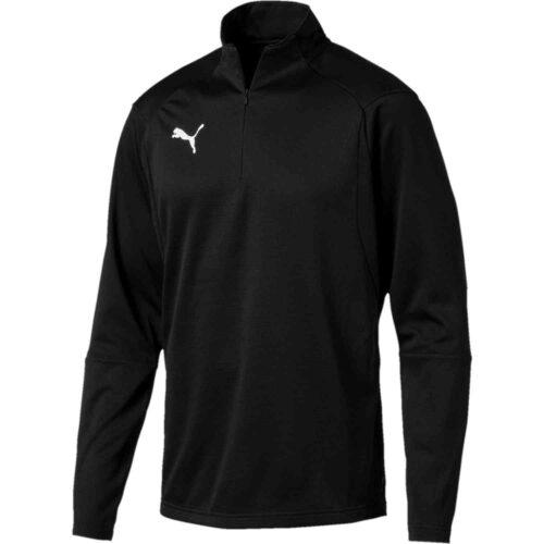 Puma Liga 1/4 zip Drill Top – Black