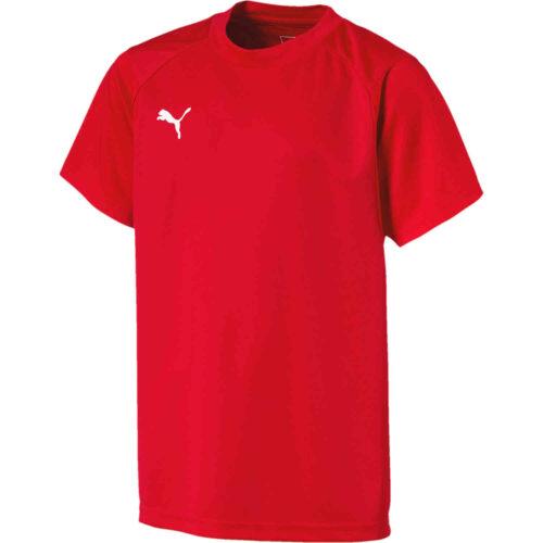 Kids Puma Liga Training Top – Red
