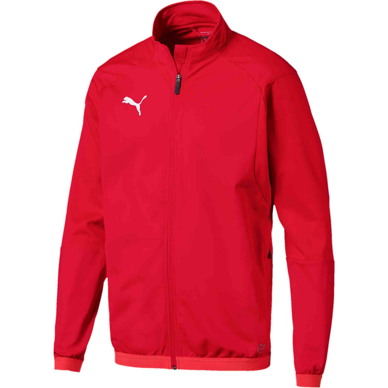 Puma Liga Training Jacket - Red - SoccerPro