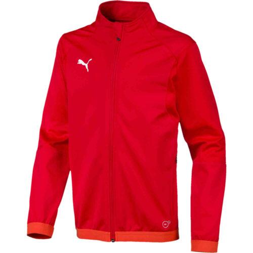 Kids Puma Liga Training Jacket – Red