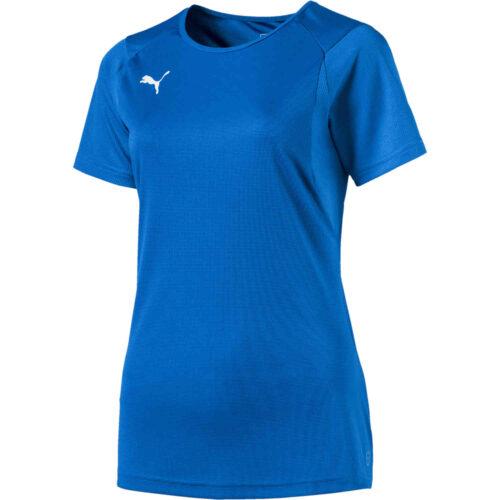 Womens Puma Liga Training Top – Electric Blue Lemonade