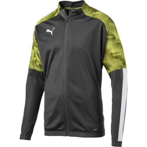 Kids Puma Cup Training Jacket – Asphalt/Fizzy Yellow