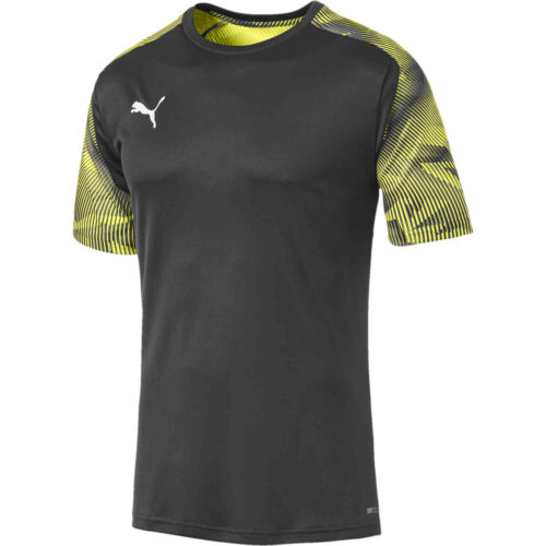 Puma Cup Training Top – Asphalt/Fizzy Yellow