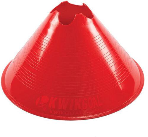 KwikGoal Jumbo Disc Cone 12 Pack – Red