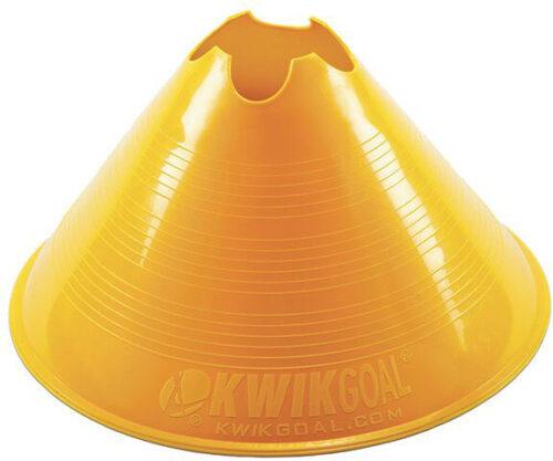 KwikGoal Jumbo Disc Cone 12 Pack – Yellow