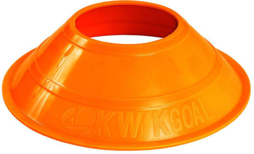 KwikGoal Mini Disc Cones 25 Pack – Hi-Vis Orange