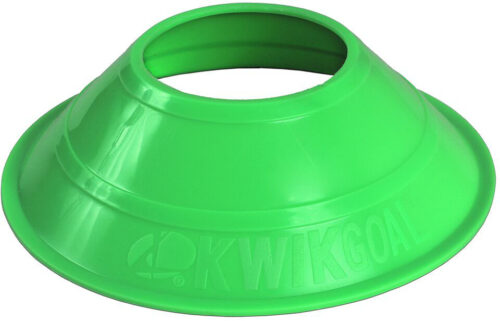 KwikGoal Mini Disc Cones 25 Pack – Hi-Vis Green