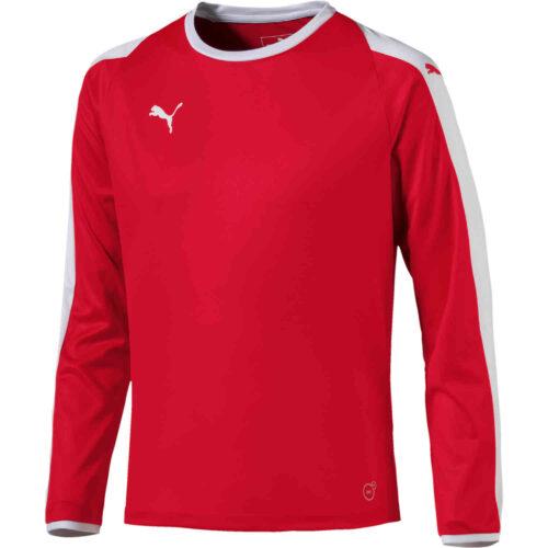 Womens Puma Liga L/S Jersey – Red