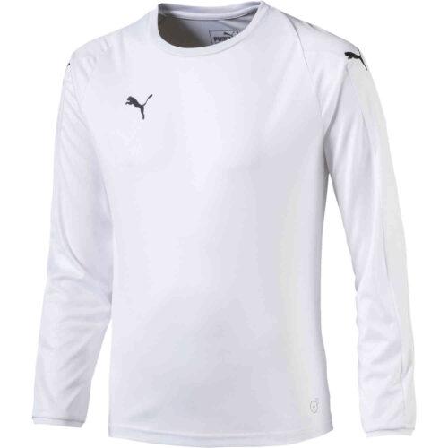 Womens Puma Liga L/S Jersey – White