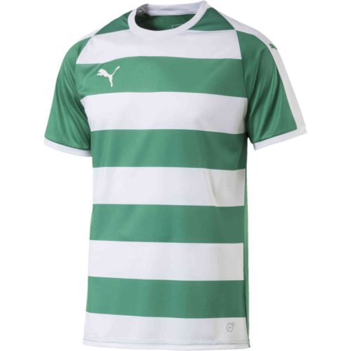 Puma Liga Hooped Jersey – Pepper Green/White