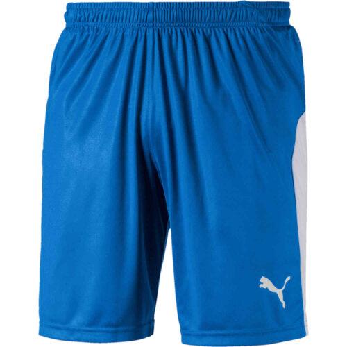 Puma Liga Shorts – Electric Blue Lemonade