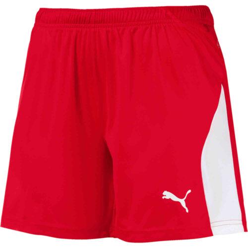 Womens Puma Liga Shorts – Red