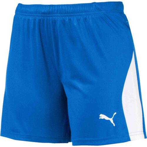 Womens Puma Liga Shorts – Electric Blue Lemonade