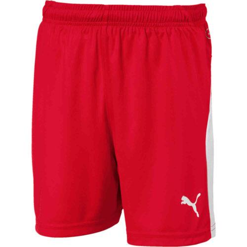 Kids Puma Liga Shorts – Red