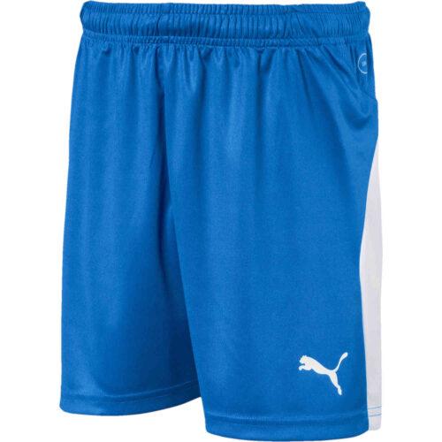 Kids Puma Liga Shorts – Electric Blue Lemonade
