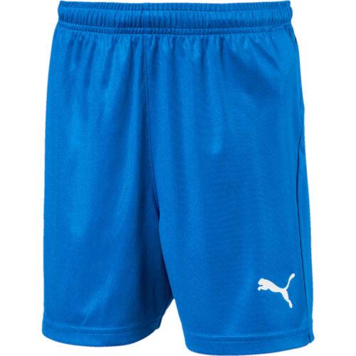 Kids Puma Liga Core Shorts – Electric Blue Lemonade