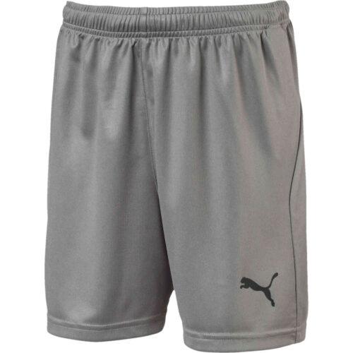 Kids Puma Liga Core Shorts – Steel Grey
