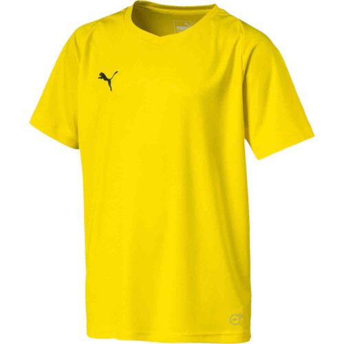 Kids Puma Liga Core Jersey – Cyber Yellow