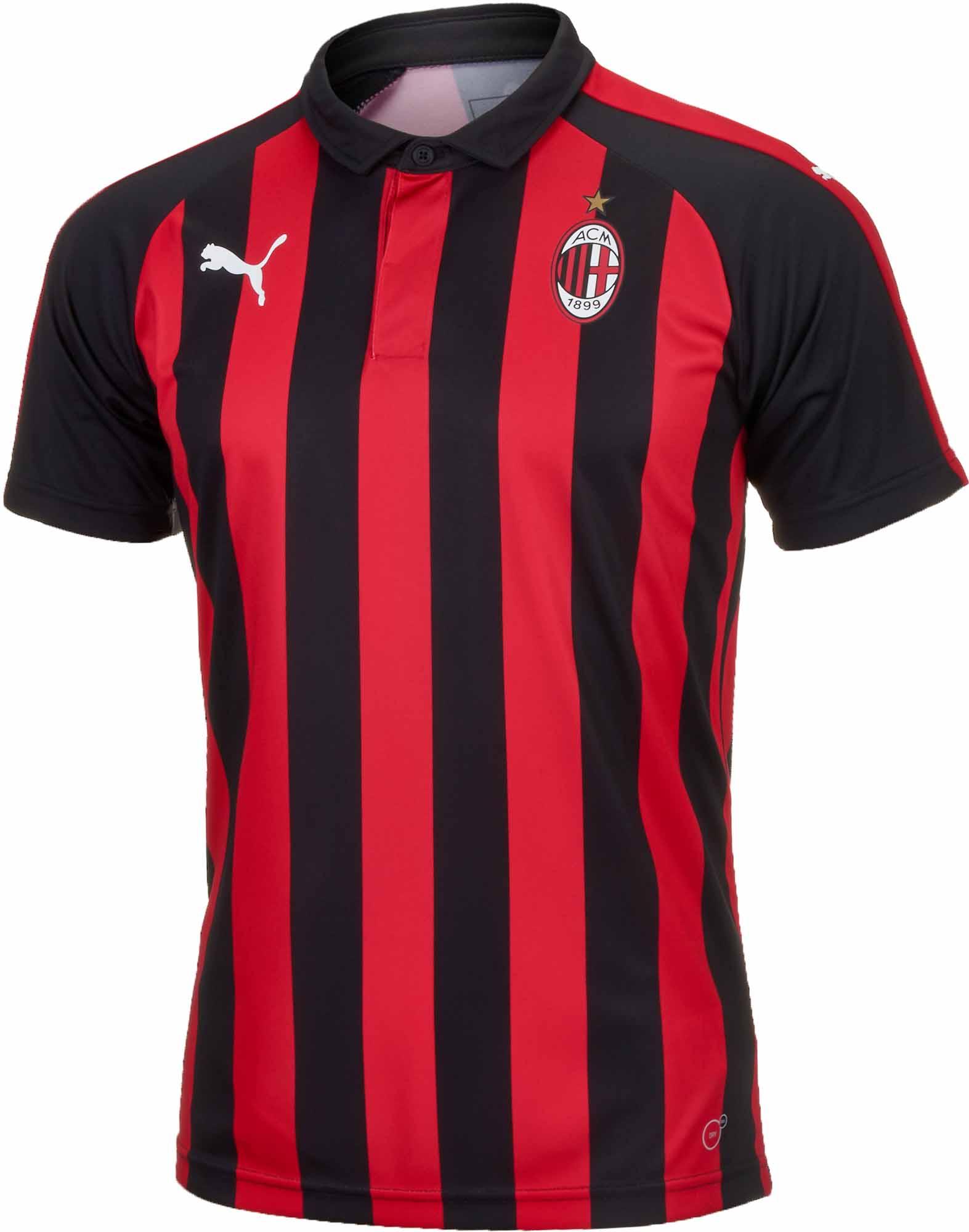 ba0e2b629 PUMA AC Milan Home Jersey - Special Edition 2018-19 - SoccerPro