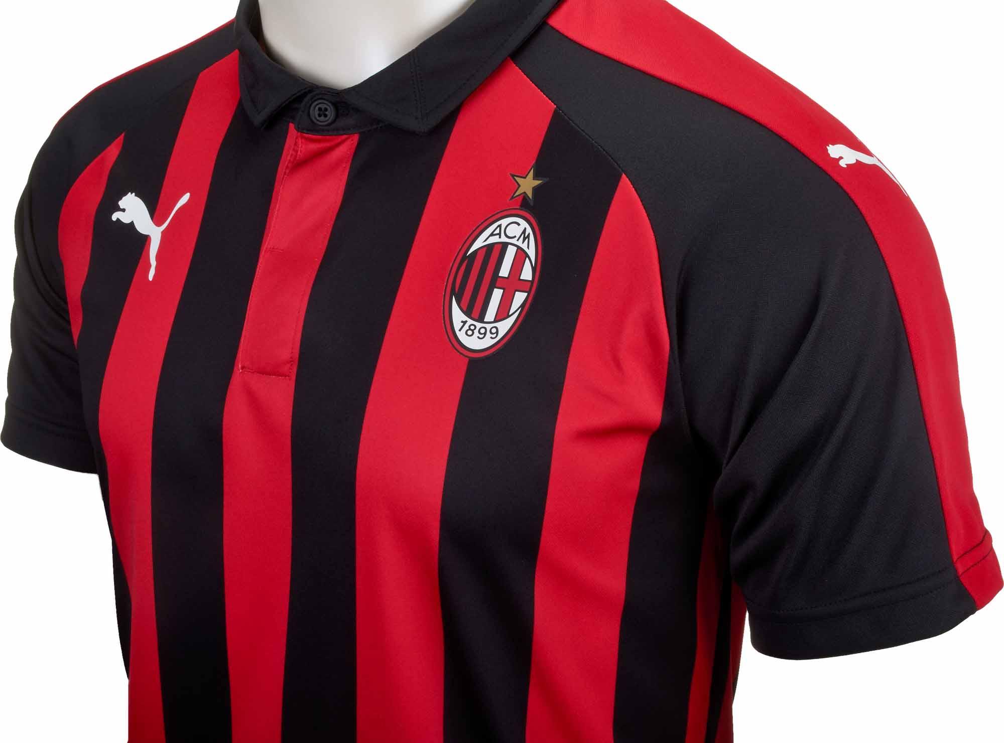 new styles e75aa 40f86 PUMA AC Milan Home Jersey - Special Edition - Chili Pepper/Black - SoccerPro