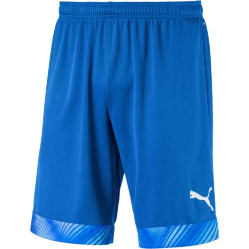 Puma Cup Shorts – Electric Blue Lemonade