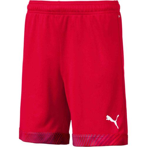 Kids Puma Cup Shorts – Red