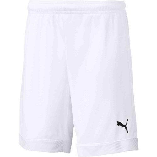 Kids Puma Cup Shorts – White