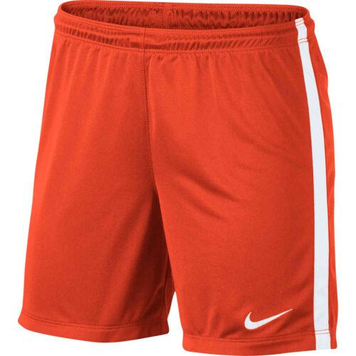 Womens Nike League Knit Shorts – Orange