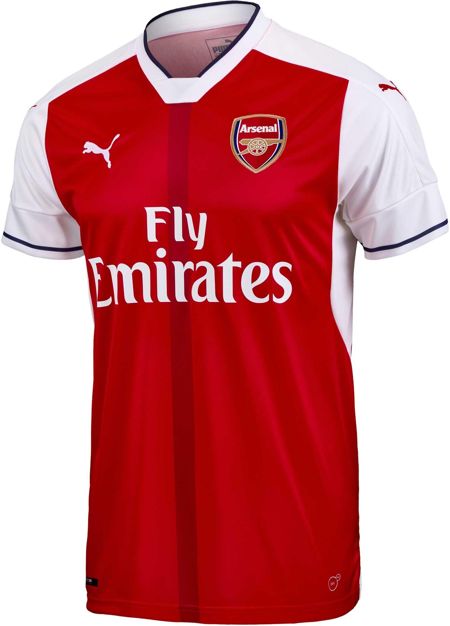 283f11bf2 Puma Kids Arsenal Home Jersey - 2016 Youth Arsenal Jerseys