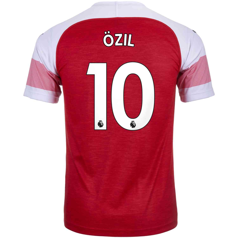 free shipping b4b38 bfa0d 2018/19 PUMA Mesut Ozil Arsenal Home Jersey - SoccerPro